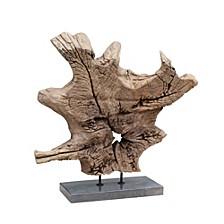 Dax Natural Teak Sculpture