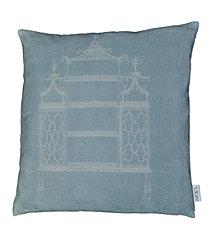Temple Velvet Feather Cushion 25X25