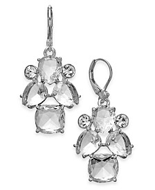 kate spade new york Silver-Tone Crystal Drop Earrings