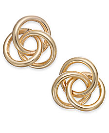 Love Knot Stud Earrings in 14k Gold