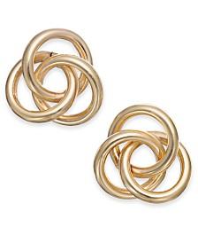 Love Knot Stud Earrings in 14k Gold