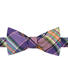 Tommy Hilfiger Men's Plaid To-Tie Silk Bow Tie