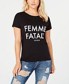 GUESS Femme Fatale Graphic-Print T-Shirt