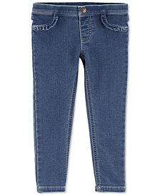 Carter's Baby Girls Slim-Fit Ruffled Knit Denim Jeggings