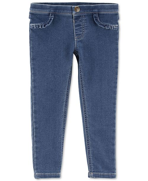 8d650c3e1 Carter's Baby Girls Slim-Fit Ruffled Knit Denim Jeggings & Reviews ...