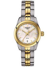 Tissot Women's Swiss T-Classic PR 100 Two-Tone Stainless Steel Bracelet Watch 25mm