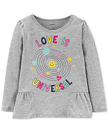 Carter's Baby Girls Love-Print Cotton T-Shirt
