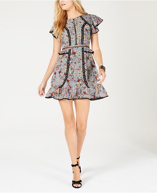 275505d4563 Laundry by Shelli Segal Embellished Fit   Flare Dress   Reviews ...