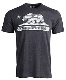 Men's Camo California Bear Graphic T-Shirt
