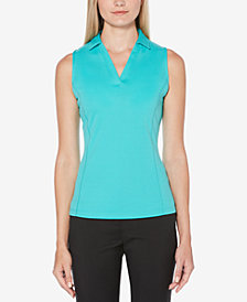 PGA TOUR V-Neck Sleeveless Golf Polo