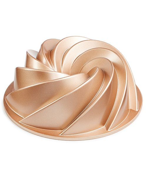 Martha Stewart Collection 10-Cup Swirl Bundt Pan, Created for Macy's