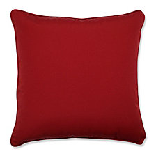 "Pompeii Red 18.5"" Throw Pillow, Set of 2"