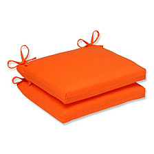 Sundeck Orange Squared Corners Seat Cushion, Set of 2