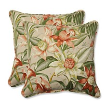 "Botanical Glow Tiger Stripe 18.5"" Throw Pillow, Set of 2"