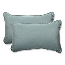 Canvas Spa Rectangular Throw Pillow, Set of 2