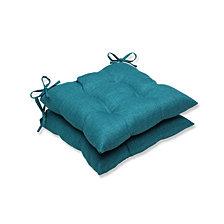 Rave Teal Wrought Iron Seat Cushion, Set of 2