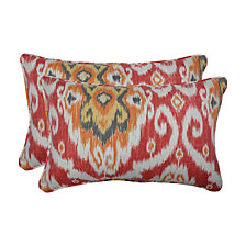 Ubud Coral Rectangular Throw Pillow, Set of 2