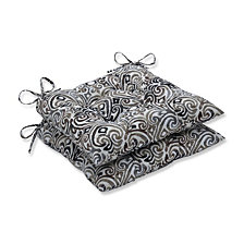 Corinthian Driftwood Wrought Iron Seat Cushion, Set of 2