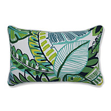 Aruba Jungle Green Rectangular Throw Pillow, Set of 2