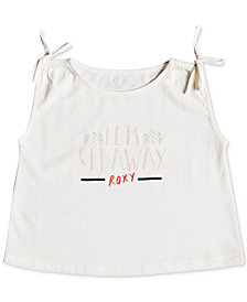 Roxy Little Girls Sleeveless Graphic-Print T-Shirt