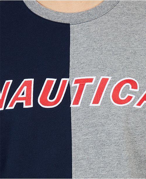 391f5c63b049 Nautica Men's Big & Tall Colorblock Crew Neck Sweater & Reviews ...