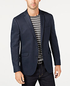 Kenneth Cole Reaction Men's Slim-Fit Stretch Navy Textured Sport Coat
