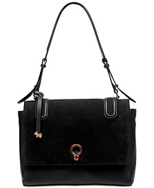 Radley London Flapover Nubuck Leather Shoulder Bag