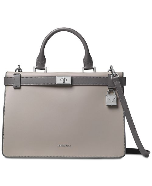 d3df0deca005 Michael Kors Tatiana Medium Leather Satchel & Reviews - Handbags ...