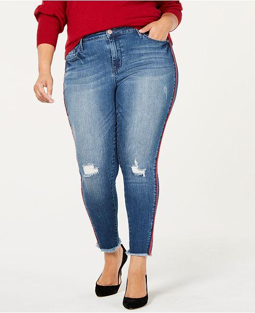 Seven7 Jeans Seven7 Trendy Plus Size Striped Skinny Jeans  Jeans