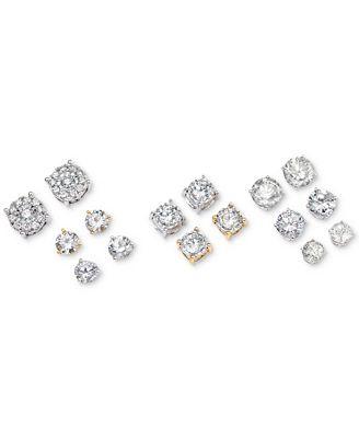 Macy S Diamond Stud Earrings In 14k White Gold 1 Ct T W