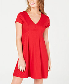 Planet Gold Juniors' Ribbed Fit & Flare Dress