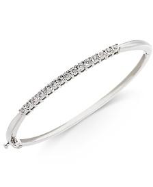 Diamond Bangle Bracelet (3/8 ct. t.w.) in Sterling Silver