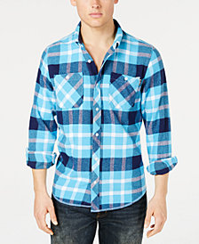 LRG Men's Overcome Plaid Flannel Shirt