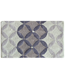 "Bacova Purple Gradient Circles Cotton 21"" x 34"" Bath Rug"