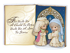 Precious Moments Holy Family Tabletop Book Figurine