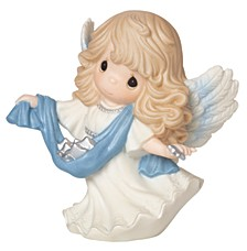 Precious Moments Guide Us To Thy Perfect Light 6th in Annual Angel Series Figurine