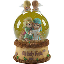 Precious Moments Oh Holy Night Musical Snow Globe