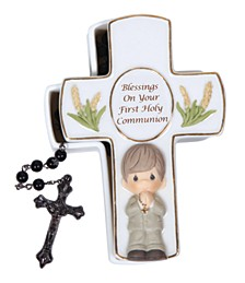 Blessings On Your First Holy Communion Box With Rosary, Boy