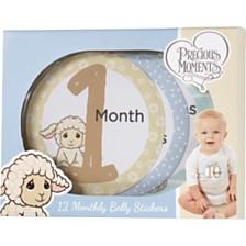 Baby's Monthly Milestones First Year Baby Belly Sticker Set