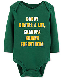 Carter's Baby Boys Grandpa Knows Everything Cotton Bodysuit