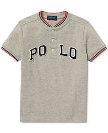 Polo Ralph Lauren Little Boys Cotton Mesh Henley T-Shirt