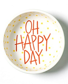 Happy Everything by Laura Johnson Collection Mint Stripe Oh Happy Day Dipping Bowl