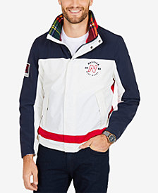 Nautica Men's Colorblocked Snap-Front Jacket