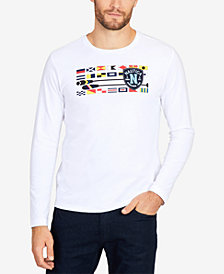 Nautica Men's Big & Tall Long-Sleeve Flags & Oars T-Shirt