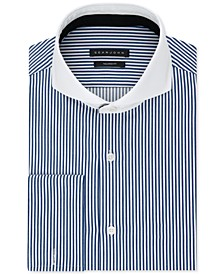 Men's Classic/Regular Fit Performance Stretch Stripe French Cuff Dress Shirt