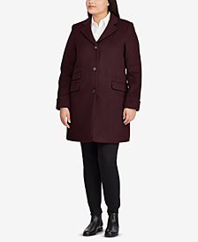 Lauren Ralph Lauren Plus Size Single-Breasted Coat