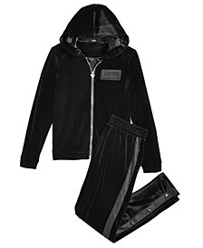 GUESS Big Girls Velvet Hoodie & Jogger Pants