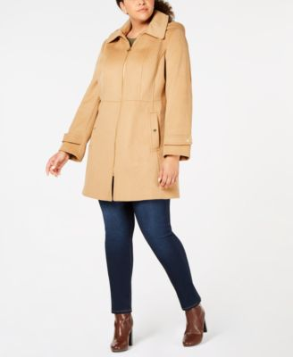 Plus Size Hooded Walker Coat