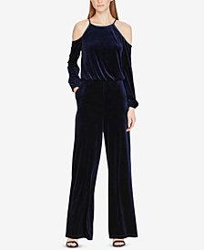 Lauren Ralph Lauren Velvet Cold-Shoulder Jumpsuit