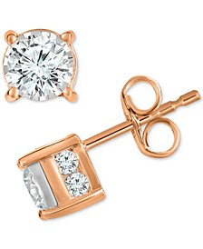 Diamond Stud Earrings (1 ct. t.w.) in 14k Gold, Rose Gold or White Gold